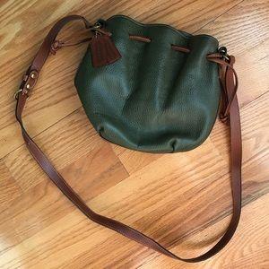 Vintage olive Coach bag